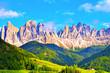 Panorama val di funes Italy