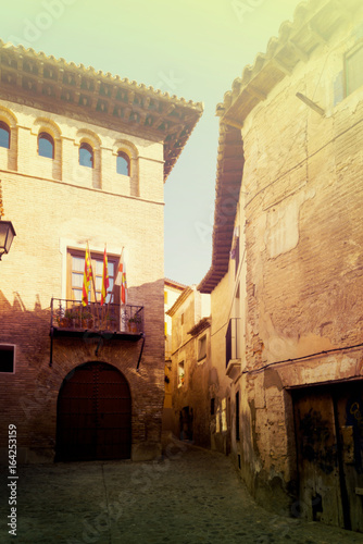 Photo  Narrow street at old spanish town. Borja