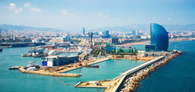 Port Vell And La Barceloneta District  In Barcelona