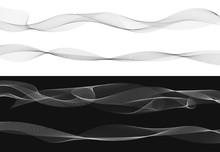 Set Of Black Twist Curved Line...