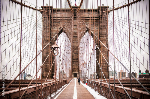 Foto auf Gartenposter Brooklyn Bridge Brooklyn Bridge, New York