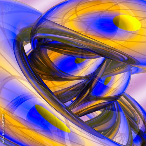 abstrakcyjne-tlo-w-niebieskie-i-zolte-nieszablonowe-ksztalty