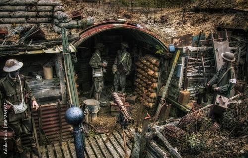 World War one trenches Fototapeta
