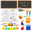 Vector school objects set