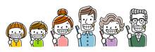 三世代家族:歯磨き、...