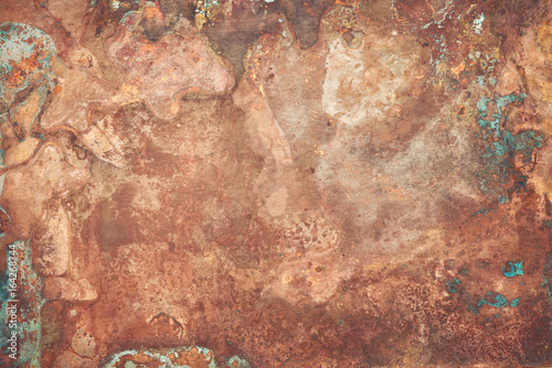 Canvas Print Old copper texture