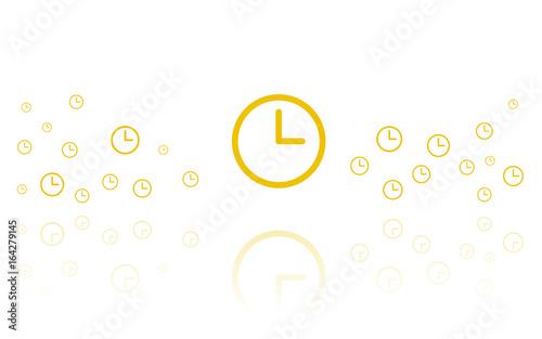 Uhr Reflektierend Weiss