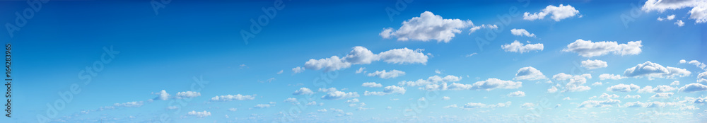 Fototapety, obrazy: Panorama of the blue sky with clouds