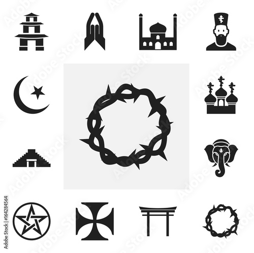 Set Of 12 Editable Dyne Icons Includes Symbols Such As Teutonic