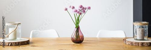 Fotografie, Obraz  Vase with pink flowers