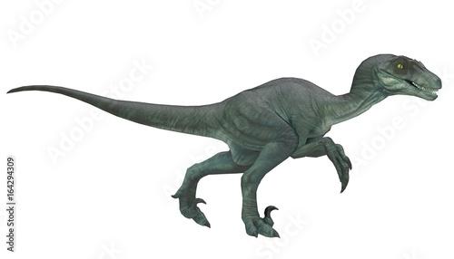 Photo  velociraptor running pose 3d rendering
