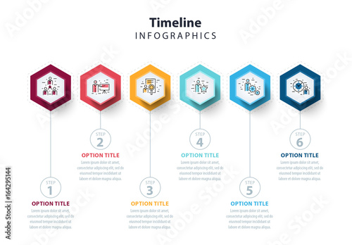 Colorful Six Section Hexagon Infographic Layout. Kaufen Sie diese ...