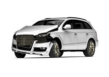 Car Accident / 3D Render Image Representing A Car Accident