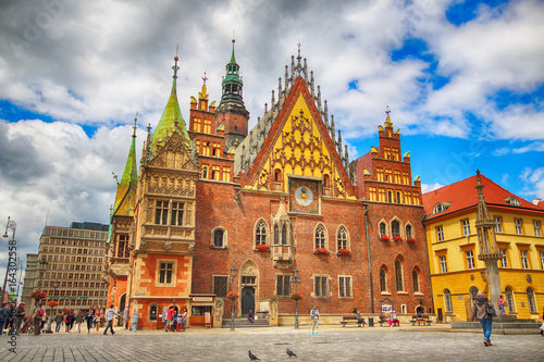 WROCLAW, POLAND - JULY 13, 2017: Wroclaw Old Town Fototapet