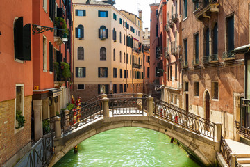 Obraz na Szkle Architektura Venice, Italy, Canal and historic tenements