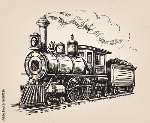 Fotografía Steam locomotive vector