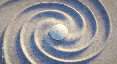 Stein in Sandspirale Slika na platnu