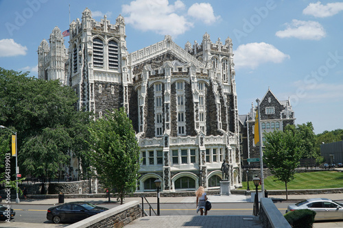 Photo  City College New York, gothic architecture