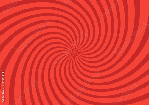 Obraz Vector illustration for swirl design. Swirling radial pattern background. Vortex starburst spiral twirl square. Helix rotation rays. Converging psychedelic scalable stripes. Fun sun light beams - fototapety do salonu