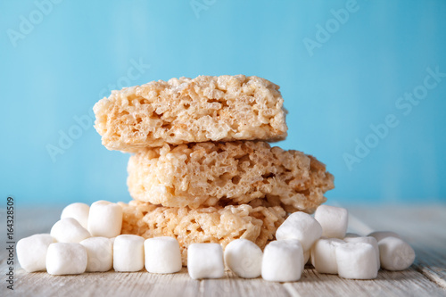 Fotografie, Obraz  Rice Crispy Treat With Marshmallows