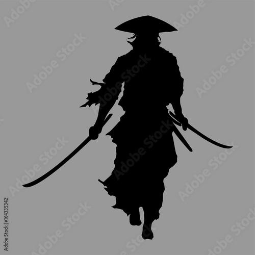 samurai silhouette Canvas Print