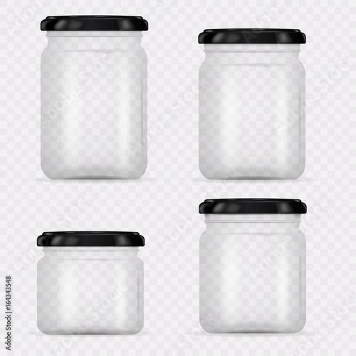 Set of Glass Jars for canning and preserving Slika na platnu