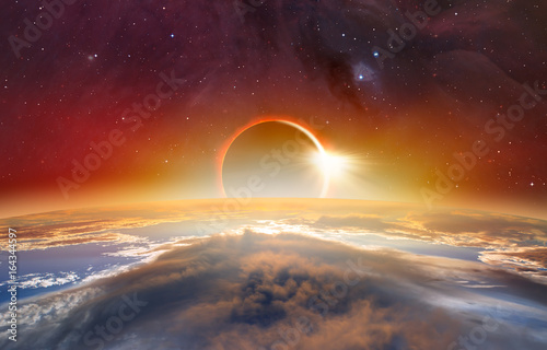 "Photo  Solar Eclipse ""Elements of this image furnished by NASA """