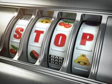 Stop Gambling Addiction Concep...