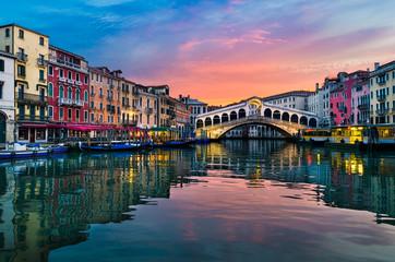 Fototapeta na wymiar Sunrise in Venice, Italy