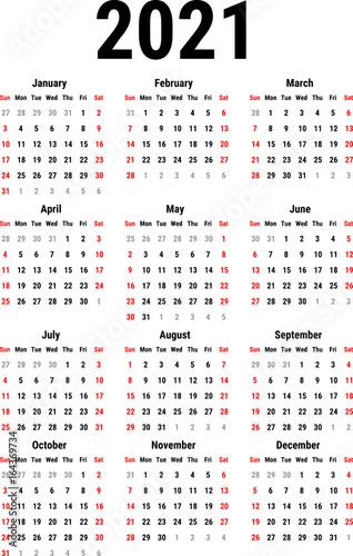 Fotografia  Calendar for 2021