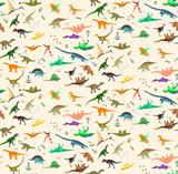 Fototapeta Dinusie - Dinosaurs Set