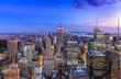 New York City Manhattan evening buildings skyline
