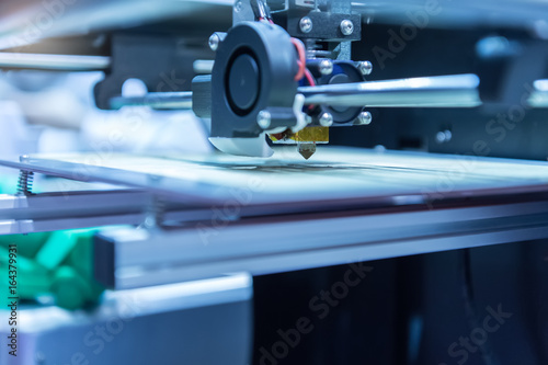 Fotografia  Three dimensional printing machine,3D printer.