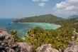 View on Taa Toh Bay from John Suwan Rock on Koh Tao island in Thailand