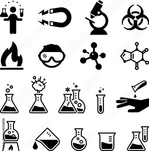 Fotografie, Obraz  Chemistry Icons - Black Series