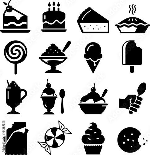 Fototapeta Dessert Icons - Black Series obraz