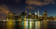Evening view of Downtown Manhattan, NY