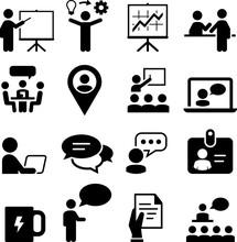 Meeting And Seminar Icons - Bl...