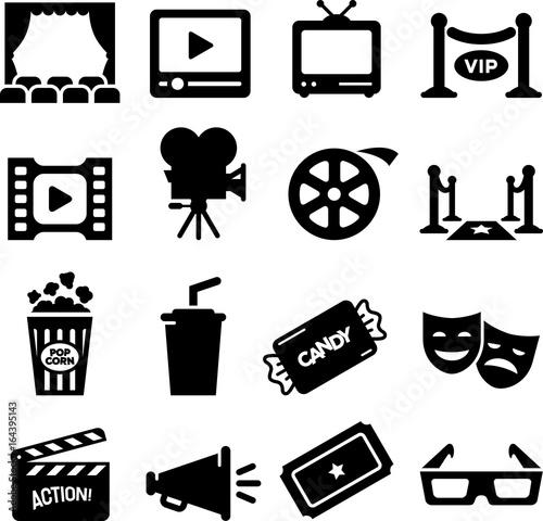 Movie Icons - Black Series Wallpaper Mural