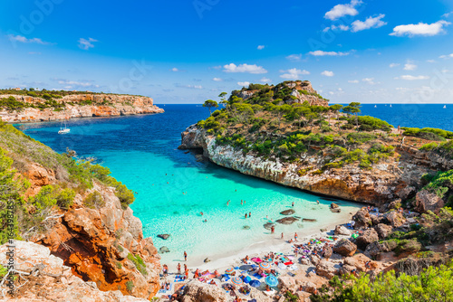Beautiful Beach Majorca Calo Des Moro Spain Mediterranean Sea Balearic Islands