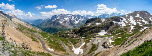 Cuadros en Lienzo  Panorama au col du Galibier dans les Alpes