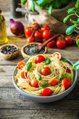 Panel Szklany Do restauracji Pasta with olive oil