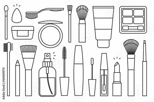 Makeup tools Icons Canvas Print