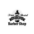 Barbershop vector icon for gentleman beard salon