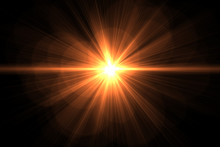 Magic Sunburst With Glowing Light . Colorful Rays Of Light Abstract Background
