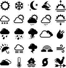Weather Icons - Black Series