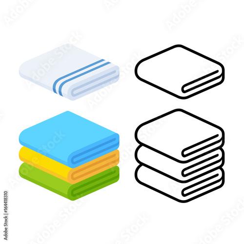 towel icons set Fototapeta