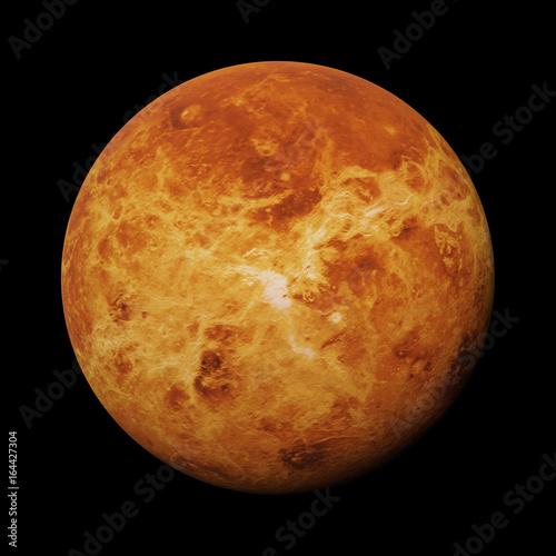 Deurstickers Nasa planet Venus isolated on black background