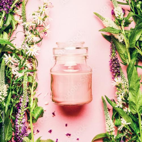 Fotografía  Natural herbal skin care cosmetic concept