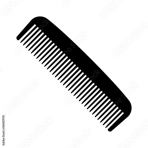 Obraz na płótnie A plastic comb for styling and combing hair flat vector icon for apps and websit